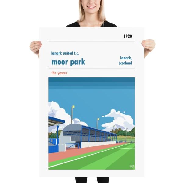 Massive Lanark United and Moor Park Football Print