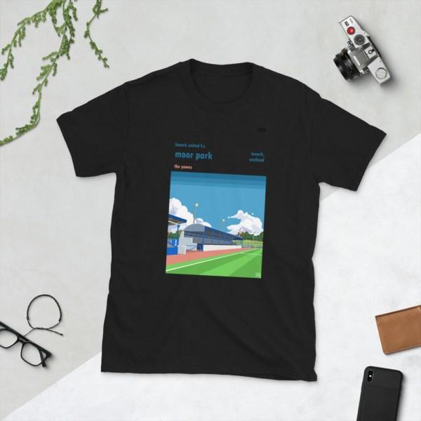 Black Lanark United and Moor Park T-Shirt