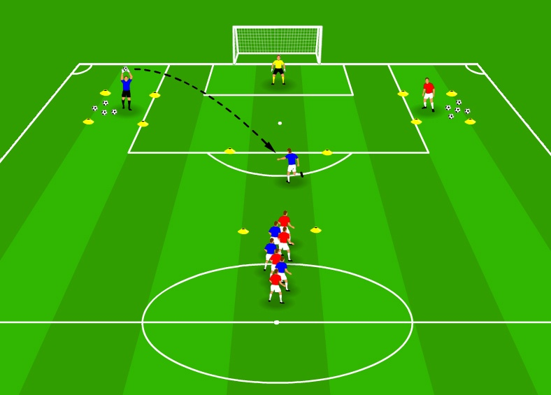 Volley shot drill