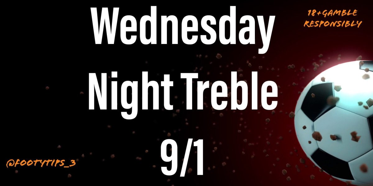 Premiership back tonight! So I have been able to put in one match from there. Treble football tip coming in at 9/1
