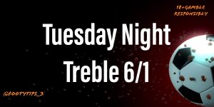 Treble Football Tip For Tuesday 16th June