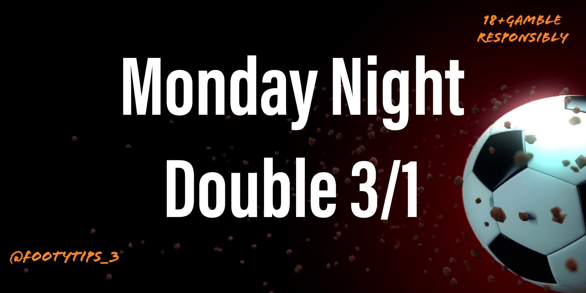 Football Tip Monday Night Double 15th June