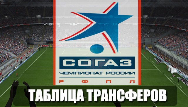 Таблица трансферов РФПЛ 2015