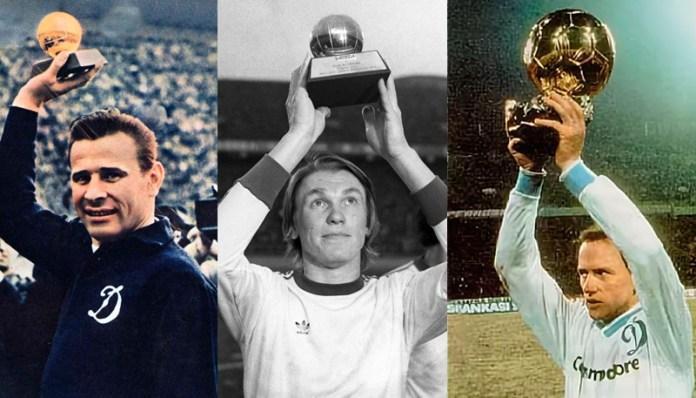 Советские футболисты с золотым мячом