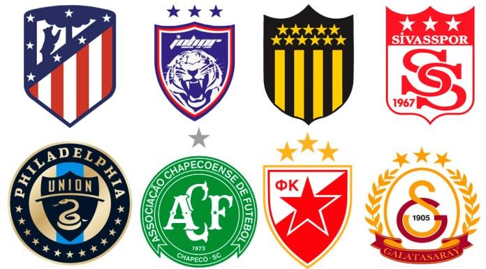 Звезды на эмблемах футбольных клубов