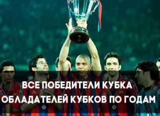 Победители Кубка обладателей Кубков УЕФА