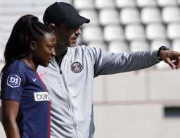 Olivier Echouafni était en conférence de presse après la défaite du PSG contre l'OL en Ligue des championnes mercredi 24 mars.