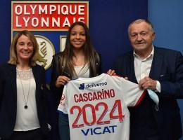 Sonia Bompastor s'est réjouit de la prolongation de Delphine Cascarino à l'OL ce vendredi lors d'une conférence de presse