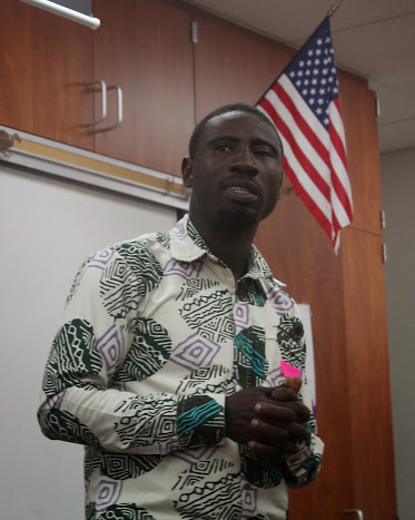 James Kofi Annan explained that there needs to be more awareness of slavery. Credit: Carrie Coonan/The Foothill Dragon Press