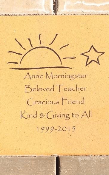 The memorial for Anne Morningstar was held