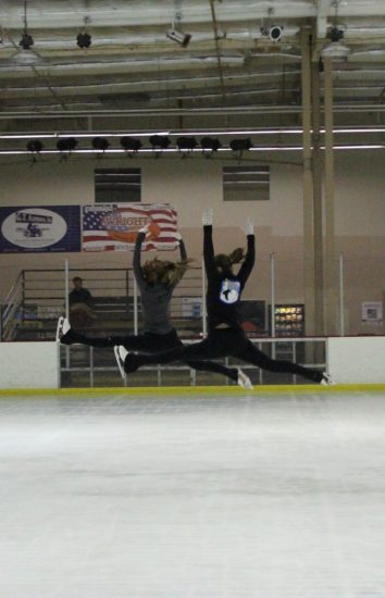 Lane and Noel Domke have been skating together for the past seven years. Credit: Chloey Settles/The Foothill Dragon Press