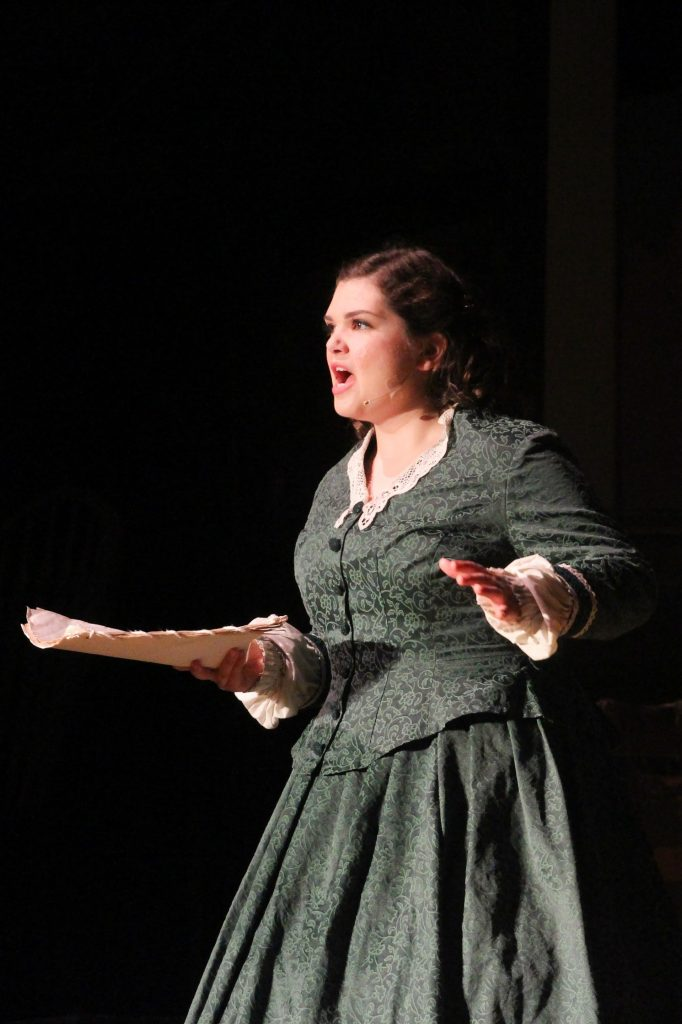 """Senior Claire Winch, who has been active in Ventura's drama department since freshman year, starred as Jo March, who Winch describes as """"a very headstrong girl."""" Credit: Sarah Kagan/The Foothill Dragon Press"""