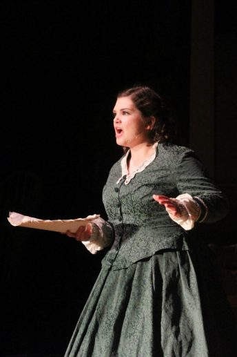 "Senior Claire Winch, who has been active in Ventura's drama department since freshman year, starred as Jo March, who Winch describes as ""a very headstrong girl."" Credit: Sarah Kagan/The Foothill Dragon Press"