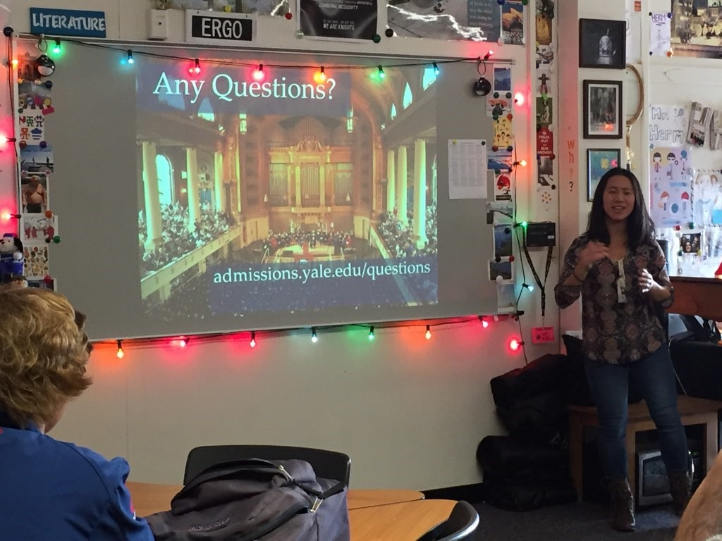 Foothill High School Students Welcome Yale To Campus