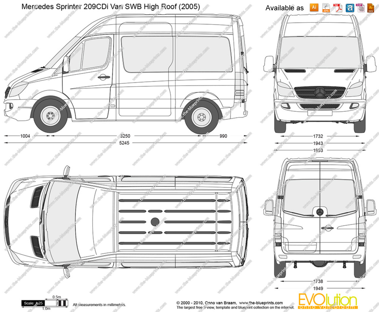 Mercedes Benz Sprinter 209 Technical Specifications