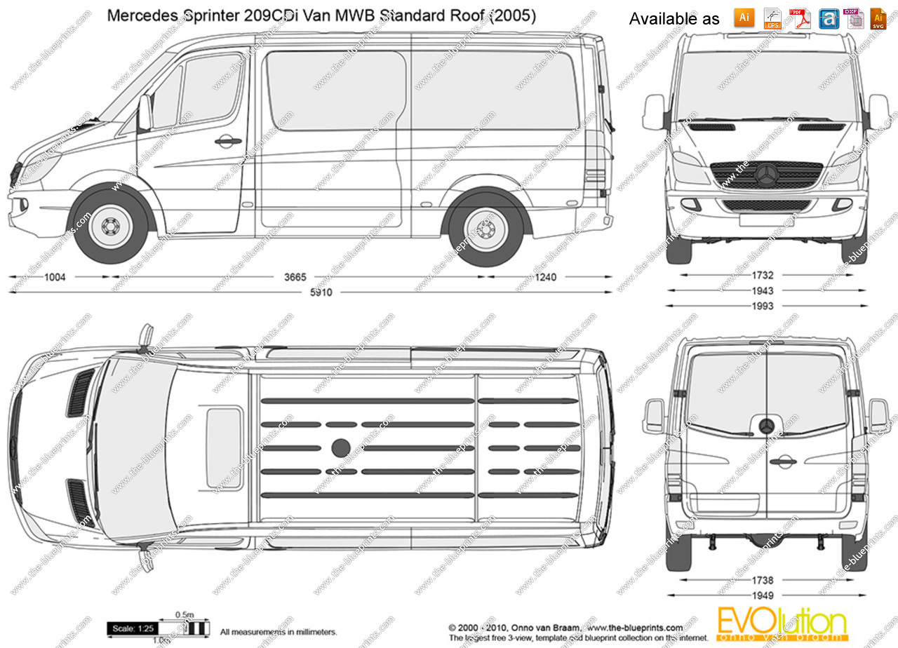 Mercedes-Benz Sprinter 209 2013 Technical specifications