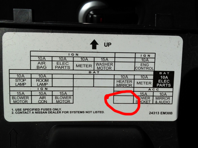 2001 Mazda Millenia 6 Cyl Interior Fuse Box Diagram