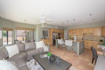 family room-kitchen