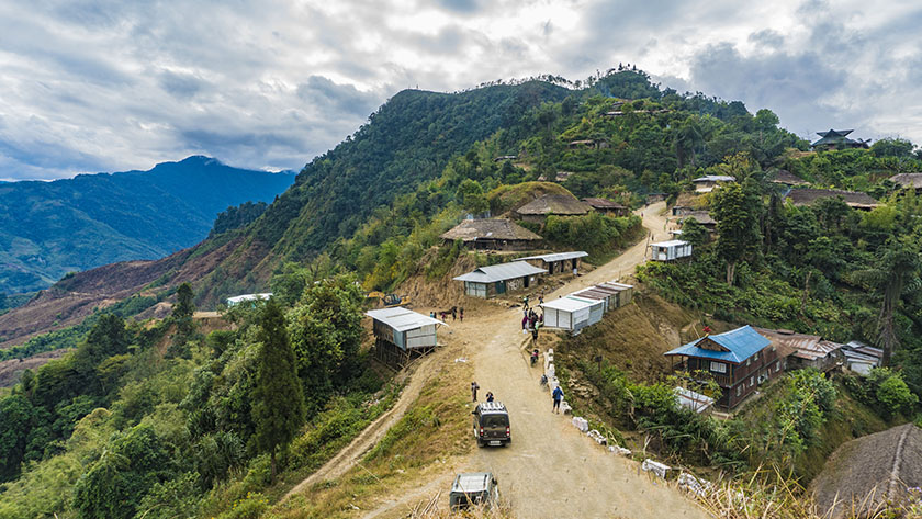the town of Longwa in Nagaland