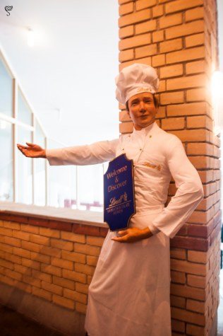 The chef welcomes us to the Lindt Chocolate heaven