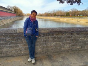 Forbidden City and its 52-m wide moat