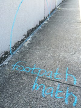 footpath math tagged on sidewalk