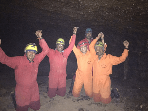 Party in a cave!