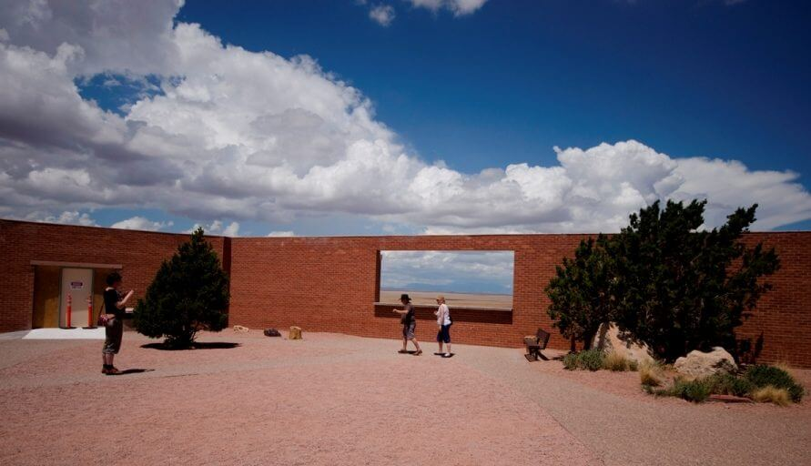 Photoframe in front of Meteor Crater Arizona