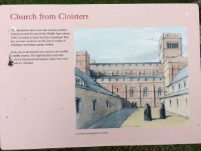 Lindisfarne Priory Church reconstructed view