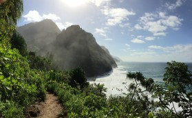 Nā Pali Coast viewed from Kalalau Trail