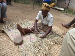 Weaving a mat