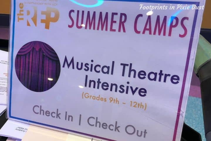 The Orlando Repertory Theatre ~ Summer Program Check in Check out procedures