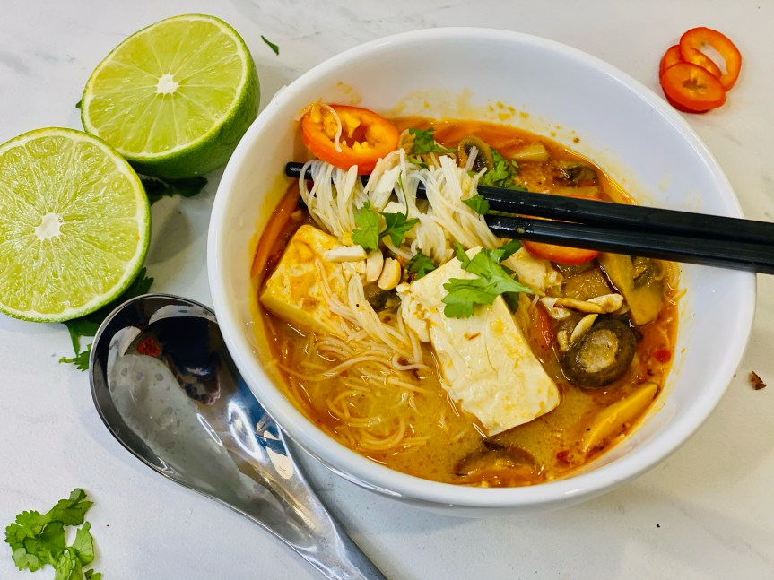 Easy Spicy Thai Noodle Soup