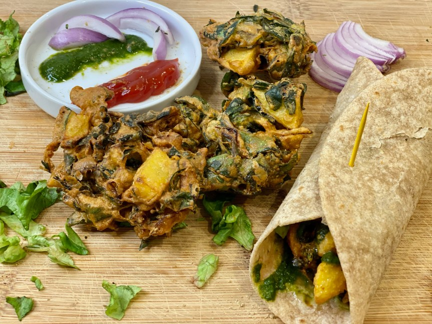 Wrap Me A Pakora Or Two – Spicy Indian Pakora(Fritter)Wraps