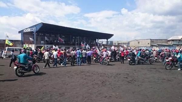Goma : Quelques locaux du stade des Volcans convertis en dépôt.