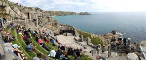 A boys choir singing for us at the Minack Theatre, at Porthcurno, 4 miles from Land's End in Cornwall
