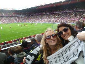 Amanda and I at Old Trafford..!