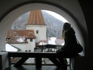 Hanging out in Dracula's Castla - Bran Castle..