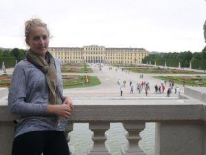 The Schönbrunn Palace in Vienna..