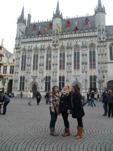 Infront of the Belfry Tower in Bruges
