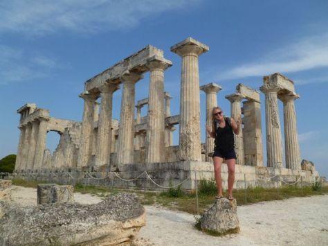Temple of Afaias on the island of Aegina..