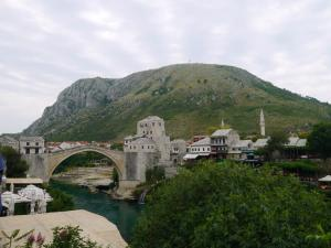 The Old bridge and city of Mostar in Bosnia..