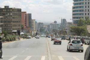 The streets of Addis Ababa..