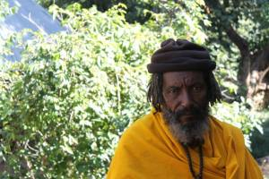 An Ethiopian Monk at the monasteries of Bahir Dar..