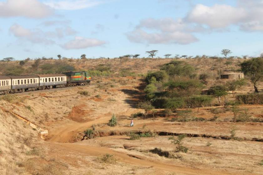 The long, but stunning, train journey from Mombasa to Nairobi..