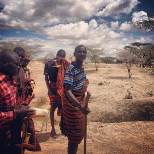 Some of the Turkana men we would drive past and stop to chat..
