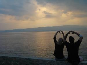 Lake Ohrid in Macedonia..