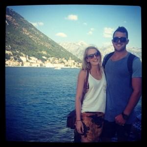 Enjoying our boat trip along the stunning coast of Montenegro.!