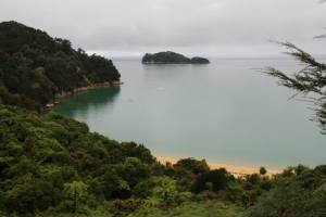 The coastal walk in Abel Tasman National Park..