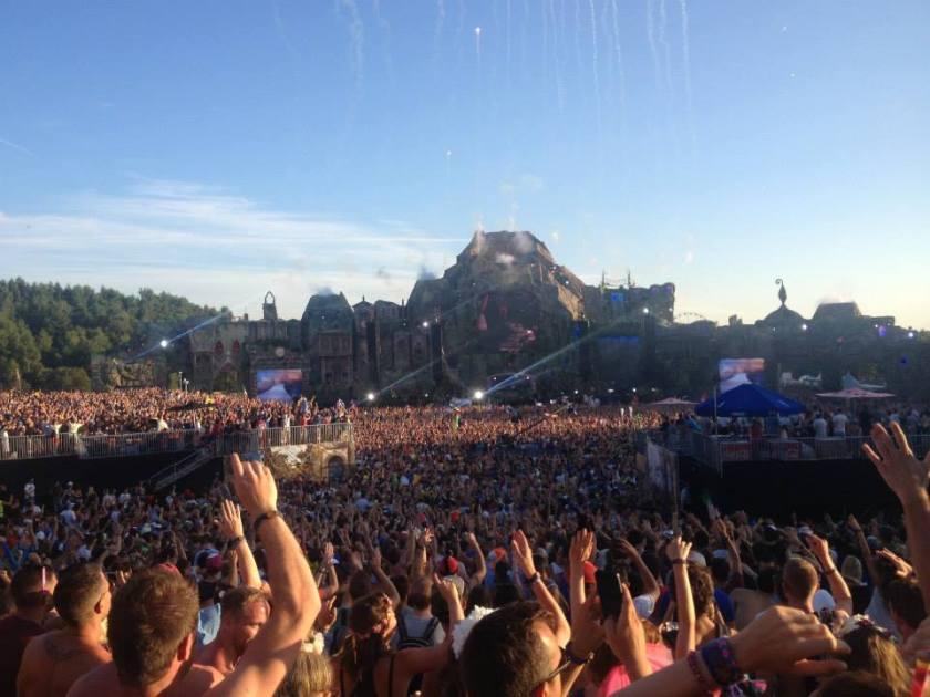 The hecticness of Tomorrowland in Boom, Belgium.!